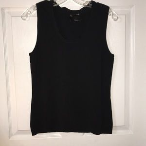 Tops - Stretch knit tank with neck detail